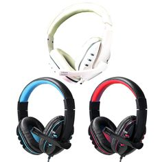 PRO Stereo Headphone Microphone with MIC GAME Gaming Headset For PS3 Gamer 3.5mm Bass Stereo Noise canceling Microphone