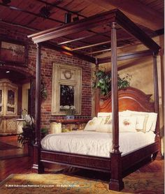 Safavieh Home Furnishings - Habersham Canopy Bed, Please call 1-877-919-1010 (http://www.safaviehhome.com/casual-beds-habersham-canopy-bed/sku)