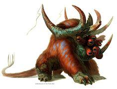 Worm Faced Beast by Davesrightmind.deviantart.com on @deviantART