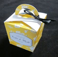 Sunflower Yellow Wedding Favor Boxes CHOICE by IllustrationGirl, $12.90