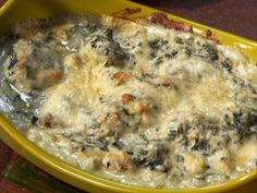 Hot Spinach and Artichoke Dip Recipe : Alton Brown : Food Network NOTE: the best and easiest spinach artichoke dip