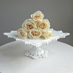 Westmoreland Milk Glass Cake Stand  Square  by BarkingSandsVintage, $165.00