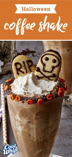 Halloween Coffee Shake – Get ready for a spooktacular night with this Halloween dessert recipe! Top your ghostly treat with a dollop of COOL WHIP for the perfect addition to your fun party!
