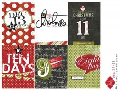 Freebie Countdown to Christmas cards from Heidi Swapp