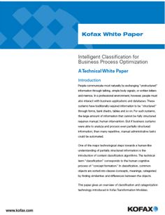 Intelligent Classification to Optimize Your Business Processes White Paper, Business, Store, Business Illustration