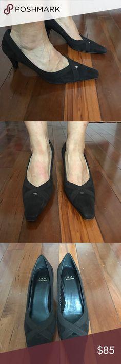 Stuart Weitzman Heels Suede. Sz 9 M. Stuart Weitzman. Used once. Bottom looks new. Beautiful deep brown color. Classy and elegant. OBO Stuart Weitzman Shoes Heels