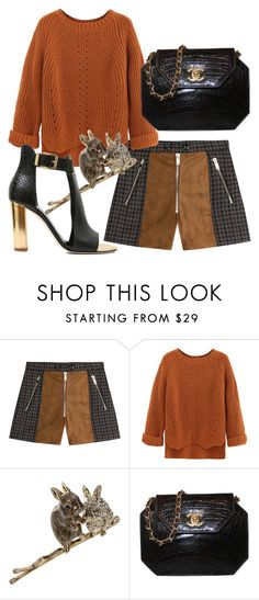"""""""Woodland Waltz"""" by fashionforwarded ❤ liked on Polyvore featuring Sonia Rykiel, WithChic, Maison Michel and Chanel"""