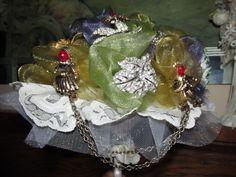 April 2014~Wedding Broach Bouquet.  Made by Robin Rivera