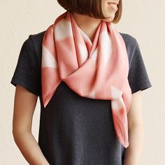 Naturally Dyed Bamboo Scarf  Geometric Pink by RebeccaDesnos, $90.23 #LetsCurate #London