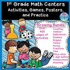 1st Grade Math Centers!