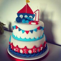Row your boat / nautical themed cake by Paula @ Berry Lovely Cake Company