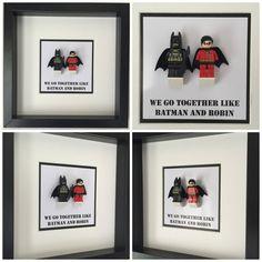 Batman mini figure box frame wall art lego inspired 1699 batman and robin quote minifigure frame mum gift geek box friends dad idea birthday anniversary wedding for her for him lego negle Choice Image