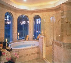 Lawton Place European Home Master Bathroom Photo 02 from houseplansandmore.com