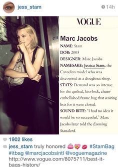 Marc Jacobs 'Jess Stam' bag.
