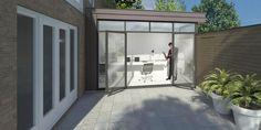 Verbouwing in Den Haag: woninguitbreiding door middel van een aanbouw met een groen dak