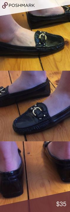 Stokton Black Patent Driving Shoes Loafers Size 38 Stockton Women's Shoes  Size 38 Black Patent Made in Italy   Gently worn.  Please see pictures. Stokton Shoes Flats & Loafers