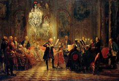 Flute Concert with Frederick the Great in Sanssouci - Adolph Menzel