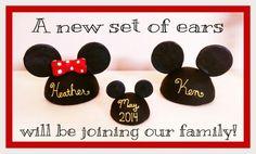 Our Disney pregnancy announcement!