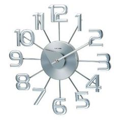 Check out the Stilnovo MT4116NEW George Nelson Ferris Clock in Silver priced at $62.00 at Homeclick.com.