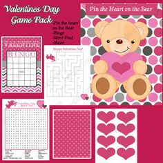 Printable Valentines Day Game Pack!