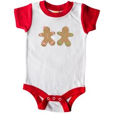 a2e5ee91176a Add a custom name to this Twins Gingerbread boy and girl Christmas cookies  Infant Creeper.
