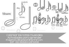 ¿buscas las notas musicales para colorear? mira todo lo que puedes descargarte…