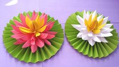 Origami Easy Paper Flower l Very Easy To Make l Paper Craft Ideas l 2017 Hello, Welcome to my channel. If you like crafts, paper work, origami, best out of w. Art And Craft Flowers, Paper Flowers Diy, Flower Crafts, Diy Paper, Flowers Vase, Lotus Flowers, How To Make Flowers Out Of Paper, Paper Flower Vase, Origami Lotus Flower