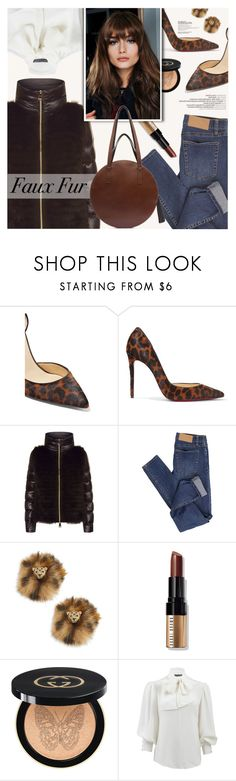 """""""..."""" by a-a-nica ❤ liked on Polyvore featuring Christian Louboutin, Herno, Cheap Monday, Kate Spade, Bobbi Brown Cosmetics, Gucci, Alexander McQueen and Marni"""