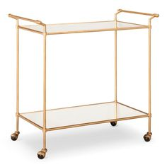Bar Cart Metal/Gold - To use by keeping towels, lotions and flowers for guests.