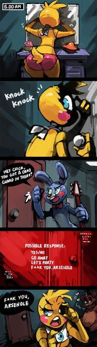 is it weird that i think Bonnie is like somewhat a tomboy and Chica is like a girlygirl