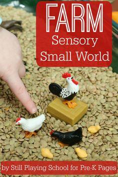 Farm Sensory and Small World Play for Preschool