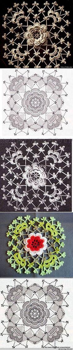 ирландское кружево...Irish crochet motifs!