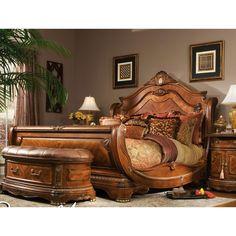 King size bedroom furniture sets ashley furniture cal king bedroom sets home delightful Bedroom Furniture Sets, Beautiful Furniture, Sleigh Bedroom Set, Bed, Aico Furniture, Wood Bed Frame, Bedroom Sets, King Sized Bedroom, Luxurious Bedrooms