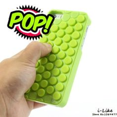 Reduce Stress PoP Sound Bubble Wrap Phone Case Shell for iPhone