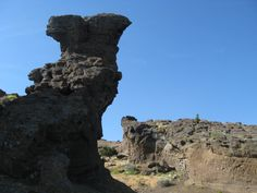 Strange formation, south rim of Menan Butte, Southeast Idaho