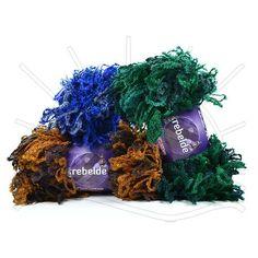 Fio Rebelde Lançamento Circulo 2013 Composição: 97% Acrílico, 3% Poliéster Contém: 20m Como Fio Rebelde, faça texturas volumosas e desalinhadas, caracteristicas da moda atual Fabricante: Circulo