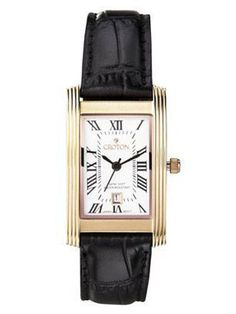 This vintage-style watch is perfect to wear to the office, since it looks super-chic and profesh. Women's Croton Black Strap Watch With Rose Gold Rectangle Case and White Dial, $69.99, target.com.