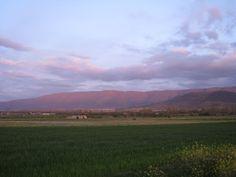 verdes los campos, rosa la sierra