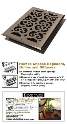 Lot of 3 Decor-Grates-Floor-Register-Air-Vent-Scroll-Plated-Nickel 4 x 14 New