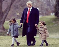 President Trump and his beautiful grandchildren. ~@guntotingkafir GOD BLESS AMERICA AND GOD BLESS PRESIDENT TRUMP!!!