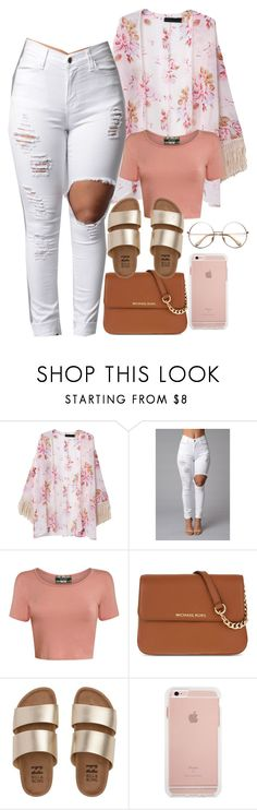 """Kimonos/Cardigans Are Just Cute"" by goddessnaii ❤ liked on Polyvore featuring Pilot, MICHAEL Michael Kors and Billabong"