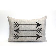 Arrow Pillow Farmhouse Pillow Throw Pillow Rustic Pillow Christmas... ($37) ❤ liked on Polyvore featuring home, home decor, black, decorative pillows, home & living, home décor, arrow home decor and black home decor