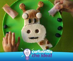 """GIRAFFA NEL PIATTO  Oh oh mi è sembrato di vedere una giraffa a forma di panino! Se adori i panini """"pazzi"""" è arrivato il momento di tirare fuori l'occorrente! Un morbido ripieno per un piatto divertente da realizzare e da guardare..."""