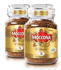 This Moccona Classic Medium Roast Coffee combines a rich flavour with a smooth taste which makes it a great option for any time of the day. The coffee comes in a glass jar which can be reused for storing a variety of items.  There is 400 g of coffee in each jar. The coffee comes in glass jars which can be reused when empty to store a variety of items. This coffee is made from a blend of Arabica and Robusta coffee beans. There are 2 jars in this pack. Richer Aroma Chocolate Coffee, Coffee Roasting, Root Beer, Coffee Beans, Glass Jars, Empty, Smooth, Canning, Medium