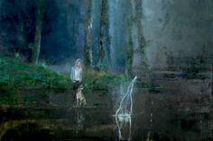 "Saatchi Art Artist Liana Nakashidze; Painting, ""Deep in the forest  sold"" #art"