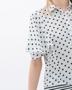 Image 6 of SHIRT WITH WIDE SLEEVE from Zara