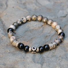 Black Evil Eye Protection Chakra Bracelet