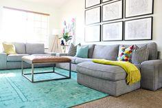 Colorful Living Room Makeover / Kivik