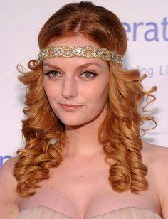Flapper Hairstyles Flapper Hairstyles On Pinterest  Headband Bun 1920S Hair And