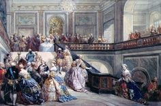 Fete at the Chateau de Versailles on the occasion of the Marriage of the Dauphin in 1745 by Eugène Louis Lami (January 12, 1800 – December 19, 1890) French painter and lithographer.